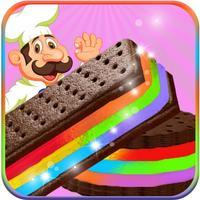Rainbow Ice Cream Sandwiches – Sweet Treat