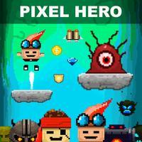 Pixel Hero Jumping Games - Jetpack Heroes Adventure Quest with Jump Shooting Survival