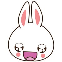 Tilly, the white bunny for iMessage Sticker
