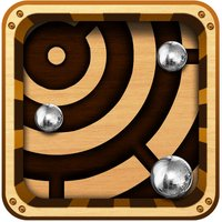 Labyrinth Maze Retro Style Reloaded - Steel Balls on Gravity defying Roller coaster Ride !