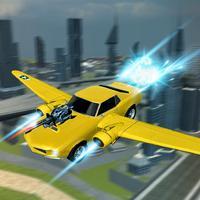 Flying Futuristic Car Battle