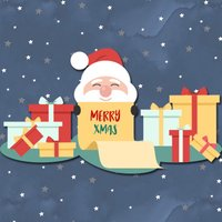 Santa Love Sticker
