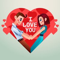 Between Romantic Stickers
