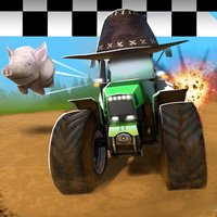 A Crazy Racing Heroes Free: Fun Tractor Driving Derby 3D