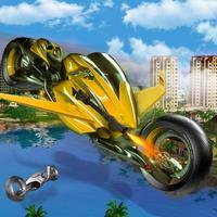 Flying Hover Robot Bike: Riding Simulator