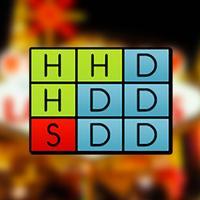 Blackjack Basic Strategy Chart Card: Any Rules, Best Odds