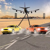 Chained Cars Drag VS Jet Plane