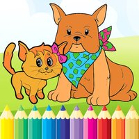 Dog & Cat Coloring Book - All In 1 Drawing Paint And Color Games for Kid
