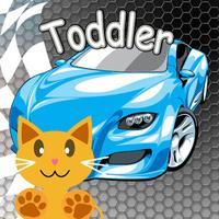Infant Bumper Slot Car Race game Toddler Kid QCat