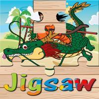Dragon Jigsaw Puzzle Online Game Free For Kids - Cartoon DBZ Super Hero Z Battle Education Learning