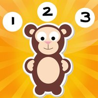 Animal counting game for babies: Learn to count the numbers with baby stuff