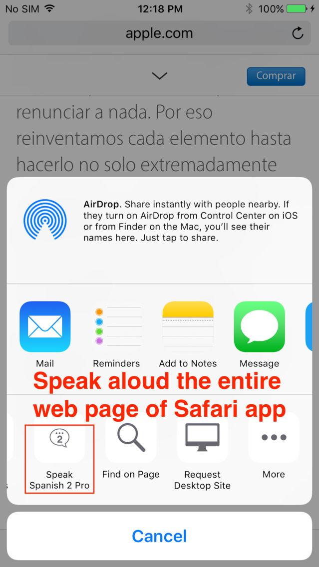 SpeakSpanish 2 Pro (12 Spanish Text-to-Speech) App for