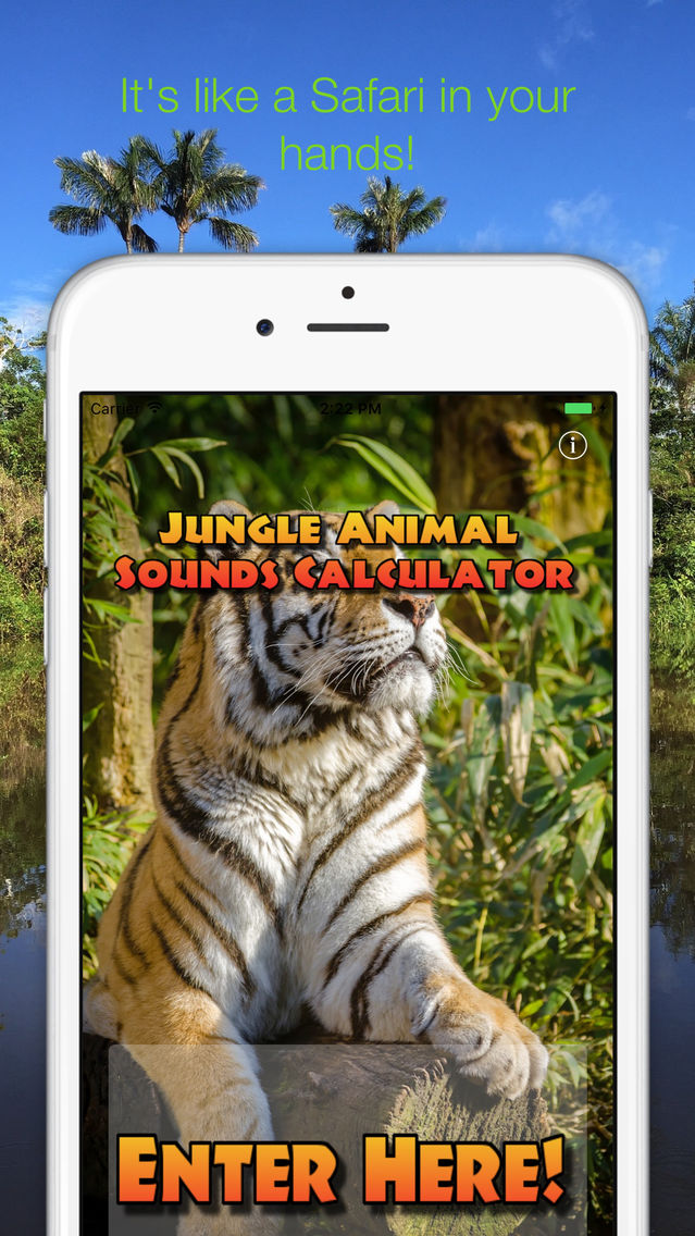 Jungle Animal Sounds Calc App for iPhone - Free Download