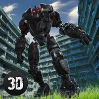 Giant Ray Robot Steel Fighting 3D
