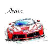 Color pencil effect - Arara