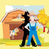 A Farmer-s Kids Game to Learn and Play with Happy Animal-s