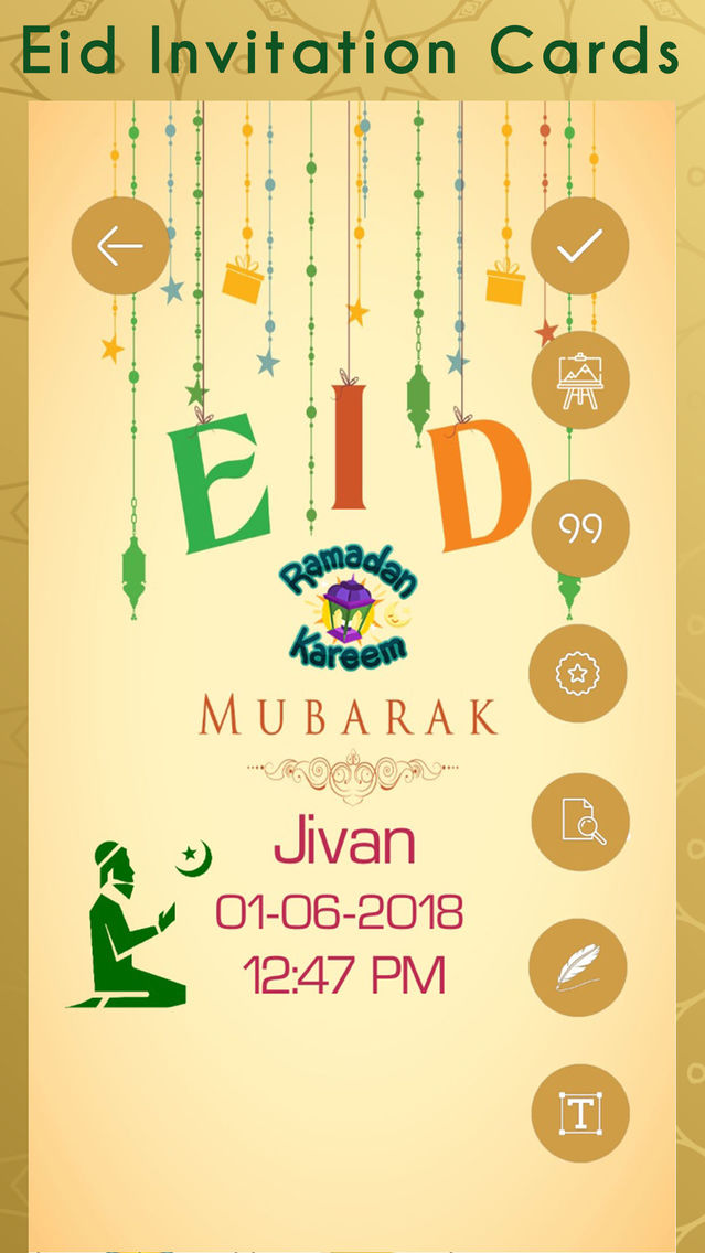 eid invitation cards creator app for iphone  free
