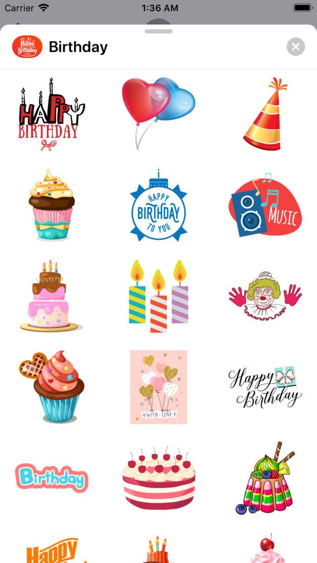 200+ Birthday MEGA Sticker App App for iPhone - Free Download 200+