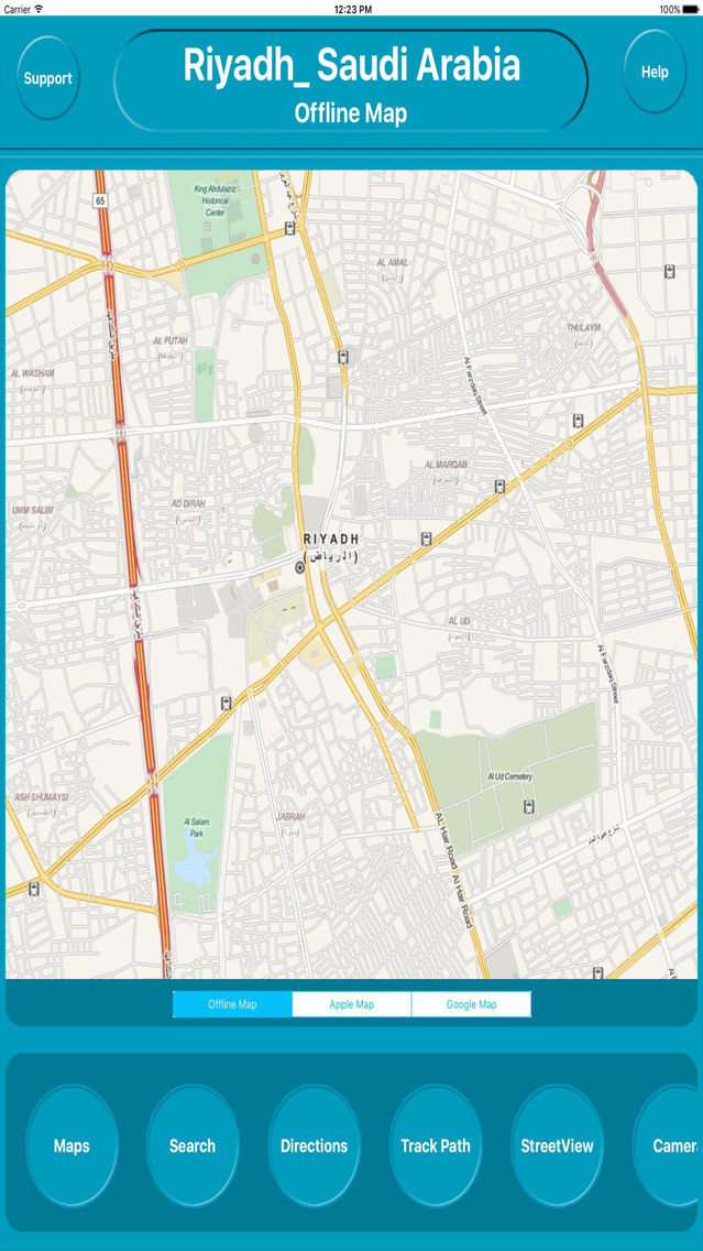 Riyadh Saudi Arabia Offline City Maps Navigation App for