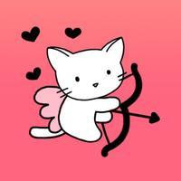 Cute Cat Love Stickers