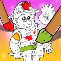 A Firefighter Coloring Book for Children: Learn to Color Firemen and Eqipment