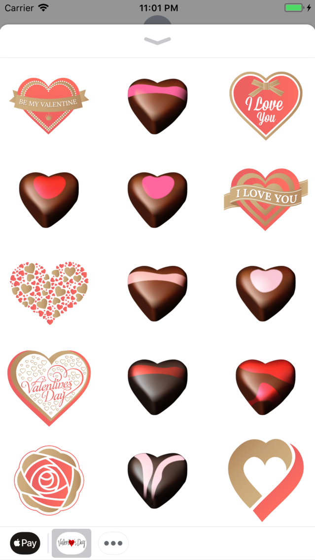 Valentin Love Romantic Sticker App for iPhone - Free