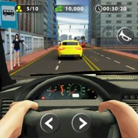 City Car Taxi Driving Rush