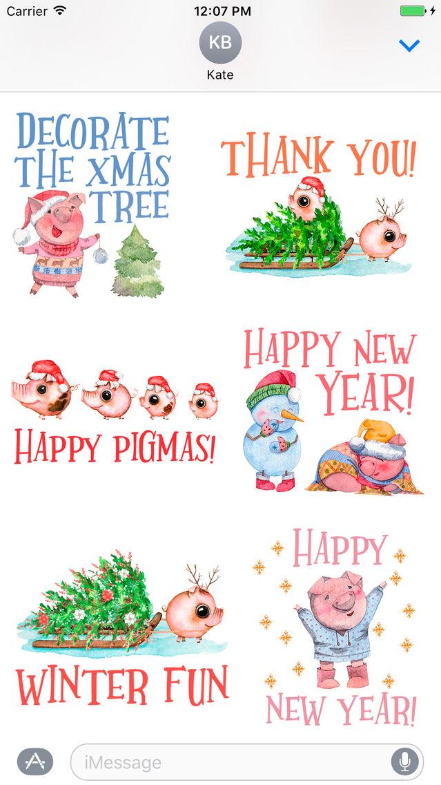 Happy Pigmas - Christmas Puns App for