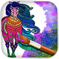 Mandalas Horses - Coloring pages for adults