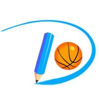 画线与篮球