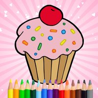 Cute Tasty Cupcakes Coloring Book Full