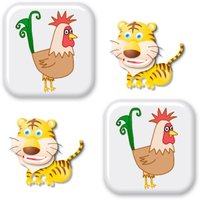 Animals matching memory game for kids