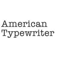 Keyboard of American Typewriter Font