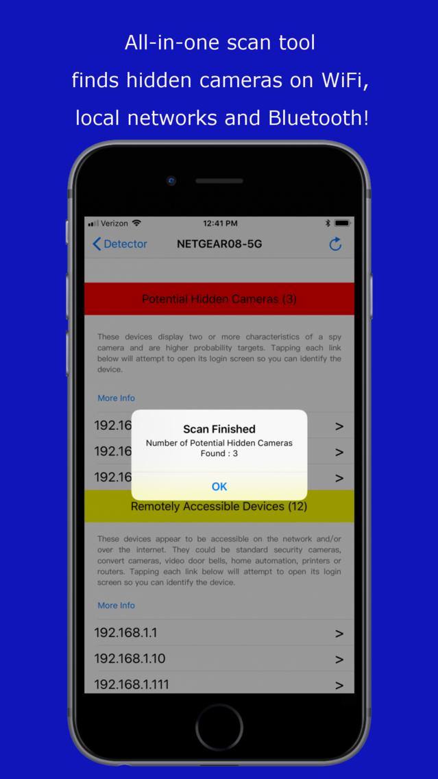 Hidden Camera Detector App for iPhone - Free Download Hidden