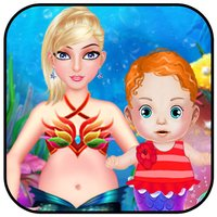 Mermaid Baby Care - Baby Born Dress Up Makeup and Spa with Mermaid World