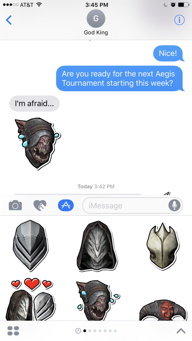 Infinity Blade Stickers App for iPhone - Free Download