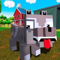 Blocky Dog: Farm Survival