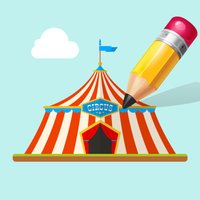 Circus Coloring Book for Children: Learn to color