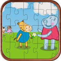 Hippo Family Jigsaw Puzzle