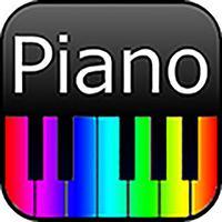 彩虹色的钢琴键盘