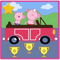 The Car Peppie Pinky Pig