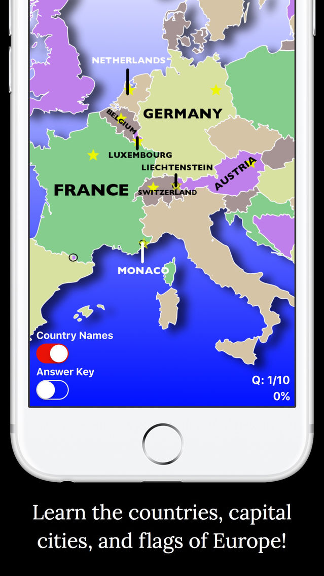 PP's Europe Geography Quiz Edu App for iPhone - Free Download PP's