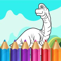 Coloring Book for Kids - Cute Dinosaurs