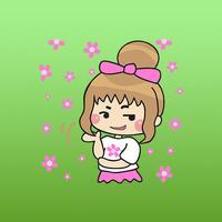 Aisha The Cute Little Girl Stickers