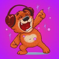 Super Red Bear Stickers