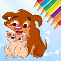 Dog & Cat Coloring Book - All In 1 Animals Drawing