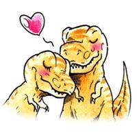 Watercolor Dinosaur Stickers
