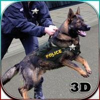 Cop Dog Arrest Criminal in Town