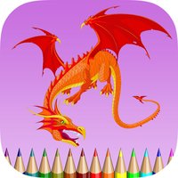 Dragon Coloring Book for Children: Learn to color and draw a dragon, monster and more
