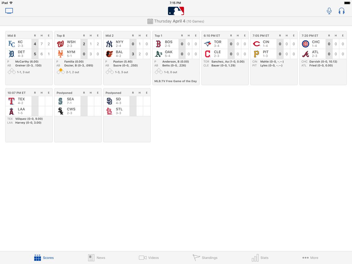 MLB At Bat App for iPhone - Free Download MLB At Bat for